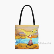The Land Before Time Ducky and Petrie Custom Personalized Tote Bag Polyester with Small Medium Large Size