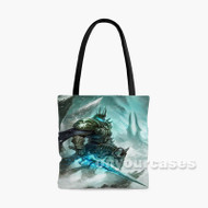 The Lich King World of Warcraft Custom Personalized Tote Bag Polyester with Small Medium Large Size