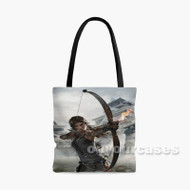 Tomb Raider Definitive Edition Fire Archer Custom Personalized Tote Bag Polyester with Small Medium Large Size