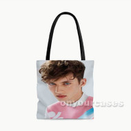 Troye Sivan Face Custom Personalized Tote Bag Polyester with Small Medium Large Size
