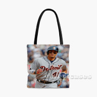 Victor Martinez Detroit Tigers Baseball Player Custom Personalized Tote Bag Polyester with Small Medium Large Size
