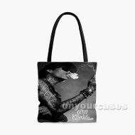 Wiz Khalifa With Smoke Custom Personalized Tote Bag Polyester with Small Medium Large Size