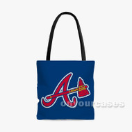 atlanta braves Custom Personalized Tote Bag Polyester with Small Medium Large Size