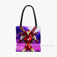 Iron Man avengers endgame Custom Personalized Tote Bag Polyester with Small Medium Large Size