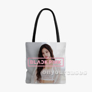 jennie blackpink Custom Personalized Tote Bag Polyester with Small Medium Large Size