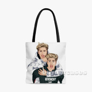 Martinez Twins 2 Custom Personalized Tote Bag Polyester with Small Medium Large Size