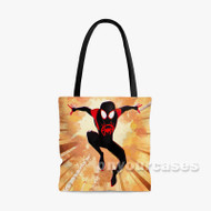 Marvel Spider Man Into the Spider Verse Custom Personalized Tote Bag Polyester with Small Medium Large Size
