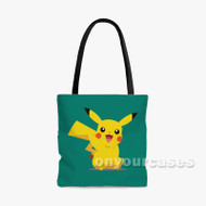 pikachu Custom Personalized Tote Bag Polyester with Small Medium Large Size