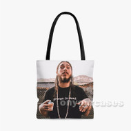 Post Malone 2 Custom Personalized Tote Bag Polyester with Small Medium Large Size