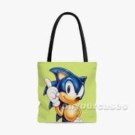sonic hedgehog 2 Custom Personalized Tote Bag Polyester with Small Medium Large Size