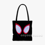 Spider Man Spider Verse Custom Personalized Tote Bag Polyester with Small Medium Large Size