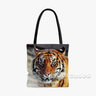 tiger Custom Personalized Tote Bag Polyester with Small Medium Large Size