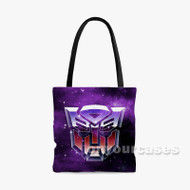 transformers Custom Personalized Tote Bag Polyester with Small Medium Large Size