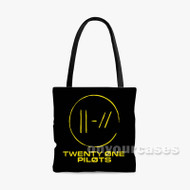 Twenty One Pilots 3 Custom Personalized Tote Bag Polyester with Small Medium Large Size