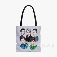 Why Don t We 2 Custom Personalized Tote Bag Polyester with Small Medium Large Size