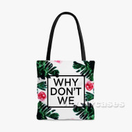 why don t we floral Custom Personalized Tote Bag Polyester with Small Medium Large Size