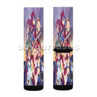 Disgaea D2 A Brighter Darkness Custom Sublimation Printed Socks Polyester Acrylic Nylon Spandex with Small Medium Large Size