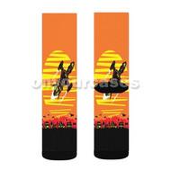 Firefly Custom Sublimation Printed Socks Polyester Acrylic Nylon Spandex with Small Medium Large Size
