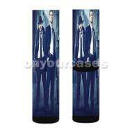 Gotham DC Comics Custom Sublimation Printed Socks Polyester Acrylic Nylon Spandex with Small Medium Large Size