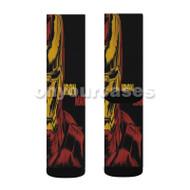 Iron Man Marvel Custom Sublimation Printed Socks Polyester Acrylic Nylon Spandex with Small Medium Large Size
