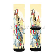 Johnny Test Custom Sublimation Printed Socks Polyester Acrylic Nylon Spandex with Small Medium Large Size