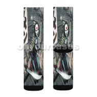 Katana DC Comics Custom Sublimation Printed Socks Polyester Acrylic Nylon Spandex with Small Medium Large Size