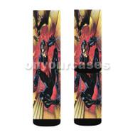 Nightwing DC Comics Custom Sublimation Printed Socks Polyester Acrylic Nylon Spandex with Small Medium Large Size