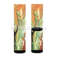 Poison Ivy DC Comics Custom Sublimation Printed Socks Polyester Acrylic Nylon Spandex with Small Medium Large Size