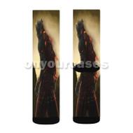 Red Knight Dark Souls 3 Custom Sublimation Printed Socks Polyester Acrylic Nylon Spandex with Small Medium Large Size