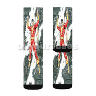 Shazam DC Comics Custom Sublimation Printed Socks Polyester Acrylic Nylon Spandex with Small Medium Large Size