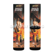The Searchers Custom Sublimation Printed Socks Polyester Acrylic Nylon Spandex with Small Medium Large Size