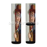Woody Toy Story Disney Custom Sublimation Printed Socks Polyester Acrylic Nylon Spandex with Small Medium Large Size