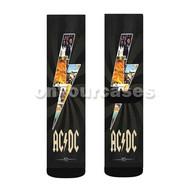 ACDC Custom Sublimation Printed Socks Polyester Acrylic Nylon Spandex with Small Medium Large Size