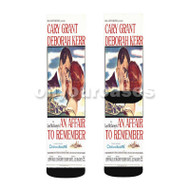 An Affair to Remember Custom Sublimation Printed Socks Polyester Acrylic Nylon Spandex with Small Medium Large Size