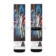 Classic Star Wars Custom Sublimation Printed Socks Polyester Acrylic Nylon Spandex with Small Medium Large Size