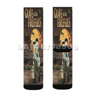 Grave of the Fireflies Custom Sublimation Printed Socks Polyester Acrylic Nylon Spandex with Small Medium Large Size