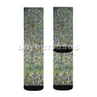 Gustav Klimt Apple Tree Custom Sublimation Printed Socks Polyester Acrylic Nylon Spandex with Small Medium Large Size
