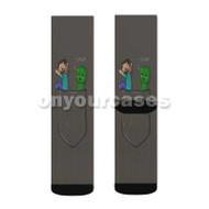 Little Creeper Pocket Minecraft Custom Sublimation Printed Socks Polyester Acrylic Nylon Spandex with Small Medium Large Size