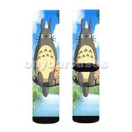 My Neighbor Totoro Custom Sublimation Printed Socks Polyester Acrylic Nylon Spandex with Small Medium Large Size