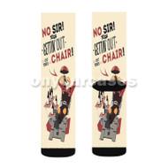 Rancho Relaxo TF2 Custom Sublimation Printed Socks Polyester Acrylic Nylon Spandex with Small Medium Large Size