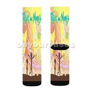 Rick and Morty Custom Sublimation Printed Socks Polyester Acrylic Nylon Spandex with Small Medium Large Size