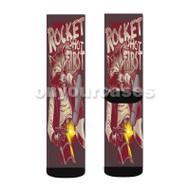 Rocket Raccoon Guardians of The Galaxy Custom Sublimation Printed Socks Polyester Acrylic Nylon Span with Small Medium Large Size