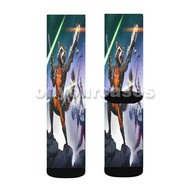 Rocket Racoon Guardians of The Galaxy Custom Sublimation Printed Socks Polyester Acrylic Nylon Spand with Small Medium Large Size