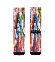 Steven Tyler Joe Perry Aerosmith Custom Sublimation Printed Socks Polyester Acrylic Nylon Spandex with Small Medium Large Size