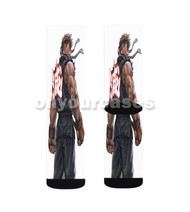 Street Fighters Custom Sublimation Printed Socks Polyester Acrylic Nylon Spandex with Small Medium Large Size