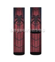 The Amazing Spiderman 2 Logo Custom Sublimation Printed Socks Polyester Acrylic Nylon Spandex with Small Medium Large Size
