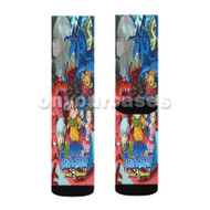 Blue Dragon Trials of the Seven Shadows Custom Sublimation Printed Socks Polyester Acrylic Nylon Spa with Small Medium Large Size