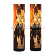 Fairy Tai Natsu Dragneel and Lucy Heartfilia Custom Sublimation Printed Socks Polyester Acrylic Nylo with Small Medium Large Size