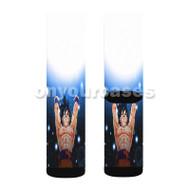 Goku Spirit Bomb Dragon Ball Z Custom Sublimation Printed Socks Polyester Acrylic Nylon Spandex with Small Medium Large Size