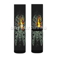 Heart On Fire Howl Moving Castle Custom Sublimation Printed Socks Polyester Acrylic Nylon Spandex with Small Medium Large Size